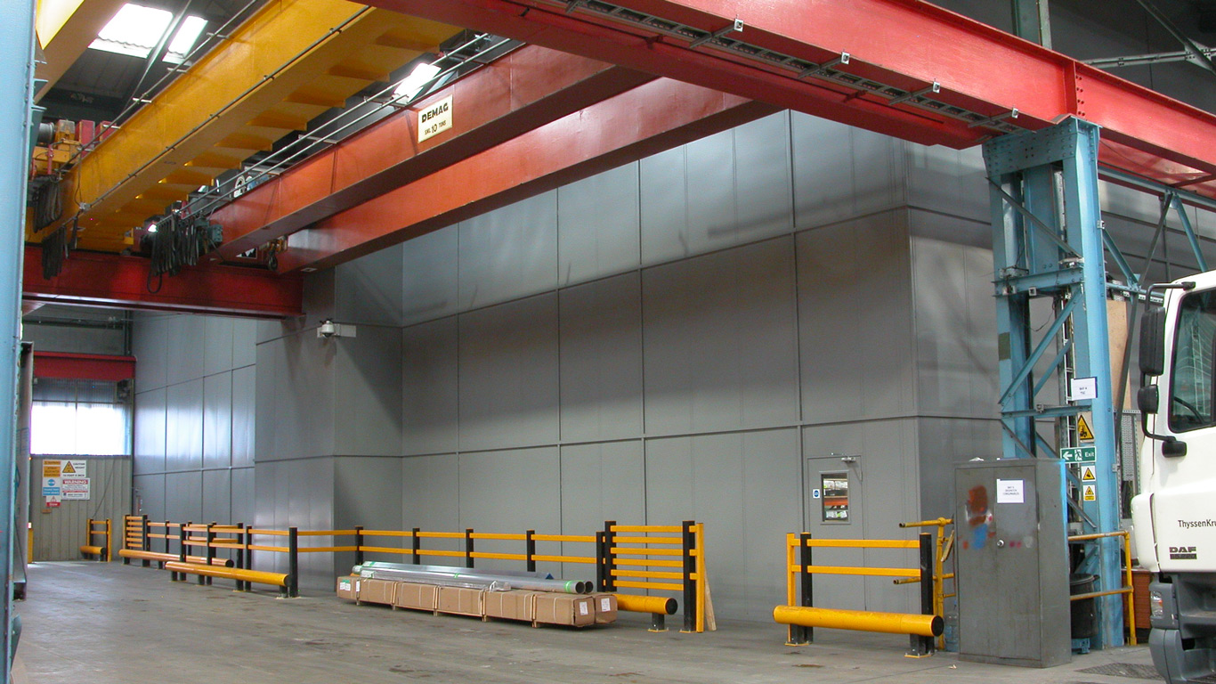 Full-height-steel-partition