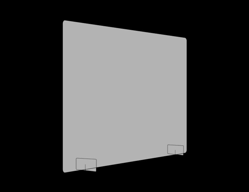 800mm x 800mm Cashier Screen